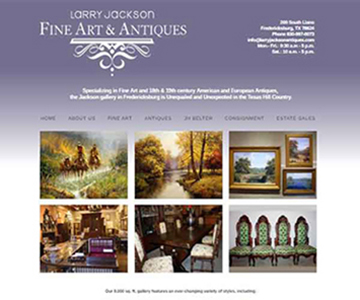 screenprint image of Larry Jackson Fine Art & Antiques website